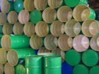 beczki zielone metalowe